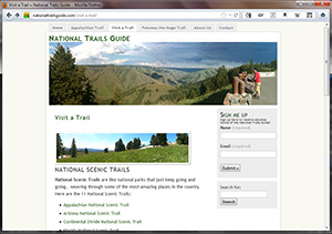 National Trails Guide, by Bill Buck.